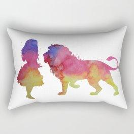 Lion and girl Rectangular Pillow