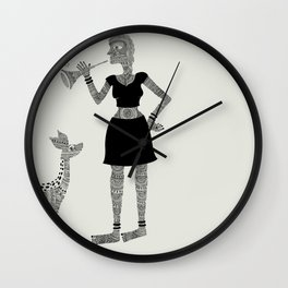 Patterned girl Wall Clock
