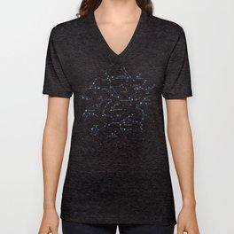 Falling star constellation Unisex V-Neck