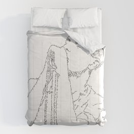 Ian Curtis WordsPortrait Comforters