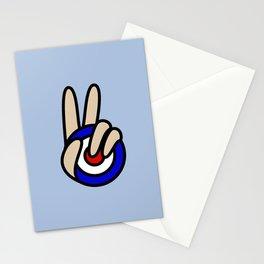 Mod Target Peace Symbol V Sign Stationery Cards