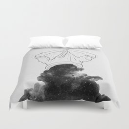 Its better to disappear. Duvet Cover