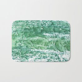 Sea green streaked watercolor pattern Bath Mat