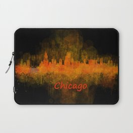 Chicago City Skyline Hq v4 Laptop Sleeve