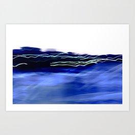 Blue Harbour Lights Art Print