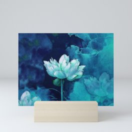 Moonlight Water Lily Mini Art Print