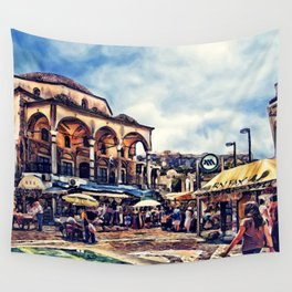 Athens place Wall Tapestry