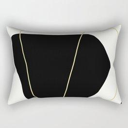 Black and White Scandinavian Abstract Art Rectangular Pillow