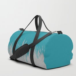Concrete Fringe Teal Duffle Bag