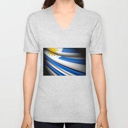 Flag of Uruguay Unisex V-Neck