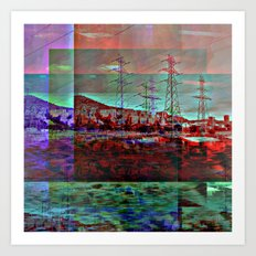 Speed and/or space mimick modules. Art Print