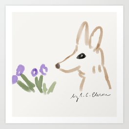California Kit Fox Art Print