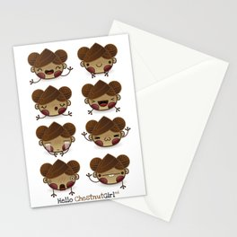 Chestnut Girl Mood Stationery Cards