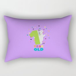 One Year first Birthday Party T-Shirt Dqk1q Rectangular Pillow
