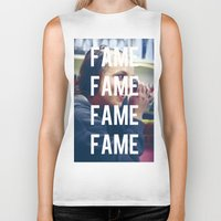 britney spears Biker Tanks featuring FAME - BRITNEY SPEARS by Beauty Killer Art