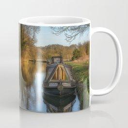Narrow Boats At Woolhampton Coffee Mug