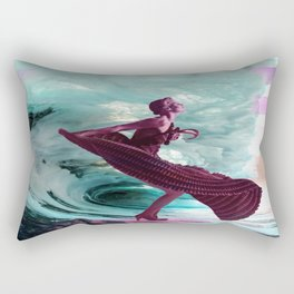If you're not making waves, you're not underway Rectangular Pillow