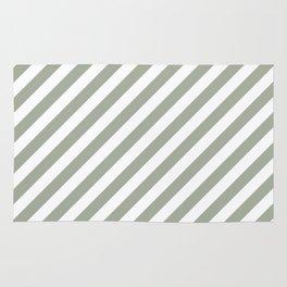 Desert Sage Grey Green Candy Cane Stripes Rug
