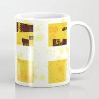 yellow pattern Mugs featuring Yellow by SensualPatterns