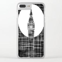 Big Ben Grunge Background Clear iPhone Case