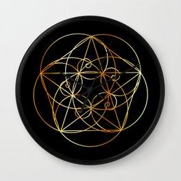 Fibonacci Spiral- The sacred geometry Wall Clock