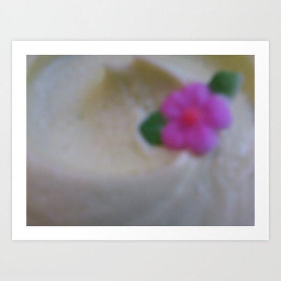 Green Cupcake Art Print
