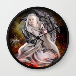The Queen and the Dragon Wall Clock