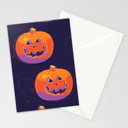 pumpkin with halloween Stationery Cards