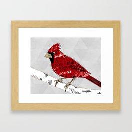 Cardinal Bird Lost Loved One Visiting Framed Art Print