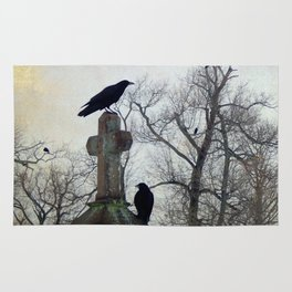 A Gatherng Of Crows Rug