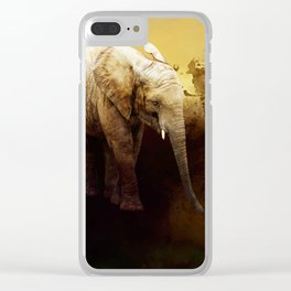 The cute elephant calf Clear iPhone Case