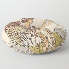 Ace of Cups By Walter Crane Floor Pillow