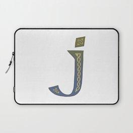 Celtic Knotwork Alphabet - Letter J Laptop Sleeve