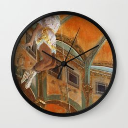 Miss La La At The Cirque Fernando 1879 By Edgar Degas | Reproduction | Famous French Painter Wall Clock