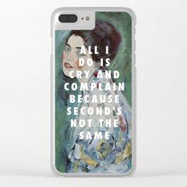 Gustav Klimt, Porträt einer Dame (1916-1917) / Halsey, Is There Somewhere (2014) Clear iPhone Case