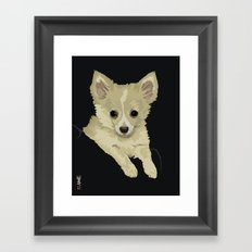 Long Hair Chihuahua Framed Art Print