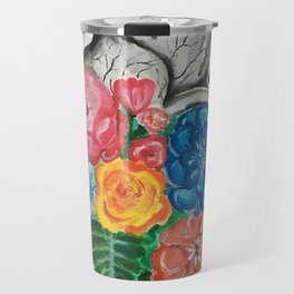 floral anatomy (heart) Travel Mug