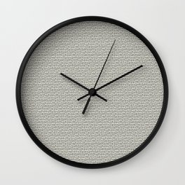 7 DIRTY WORDS Wall Clock