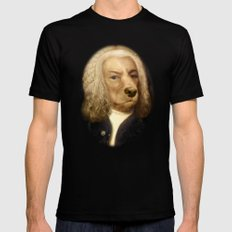 Bach, your best friend!  MEDIUM Black Mens Fitted Tee