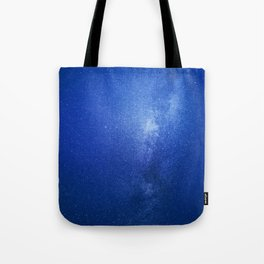 Looking up into the milkyway galaxy Tote Bag