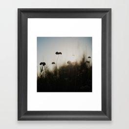 silhouetted ... Framed Art Print