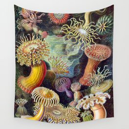 Anemones by Haeckel (Sea Plants and Flowers) Wall Tapestry