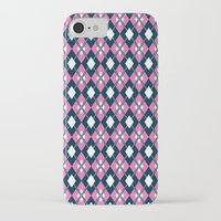 preppy iPhone & iPod Cases featuring Preppy Argyle by markmurphycreative