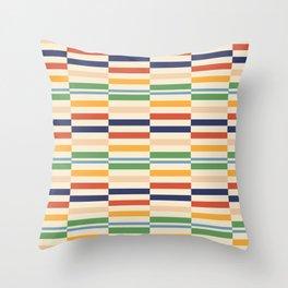 70s dress pattern Throw Pillow