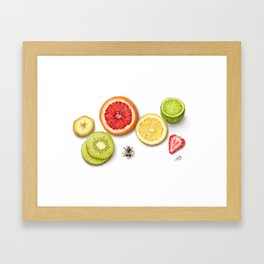 Fruit slices Framed Art Print