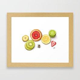 Fruit slices Framed Art Print