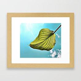 Floating Leaf Airbrush Artwork Framed Art Print