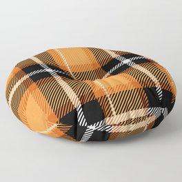 Orange + Black Plaid Floor Pillow
