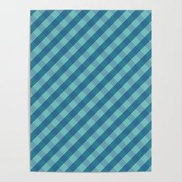 Blue plaid Poster