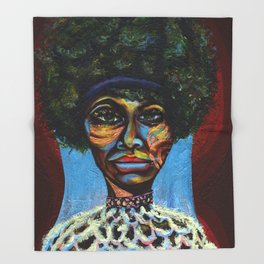 "Eunice ""Nina Simone"" Waymon Throw Blanket"